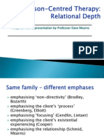 B Person-Centred Therapy Relationtional Depth