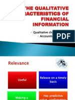 Qualitative Characteristics and Accounting Principles