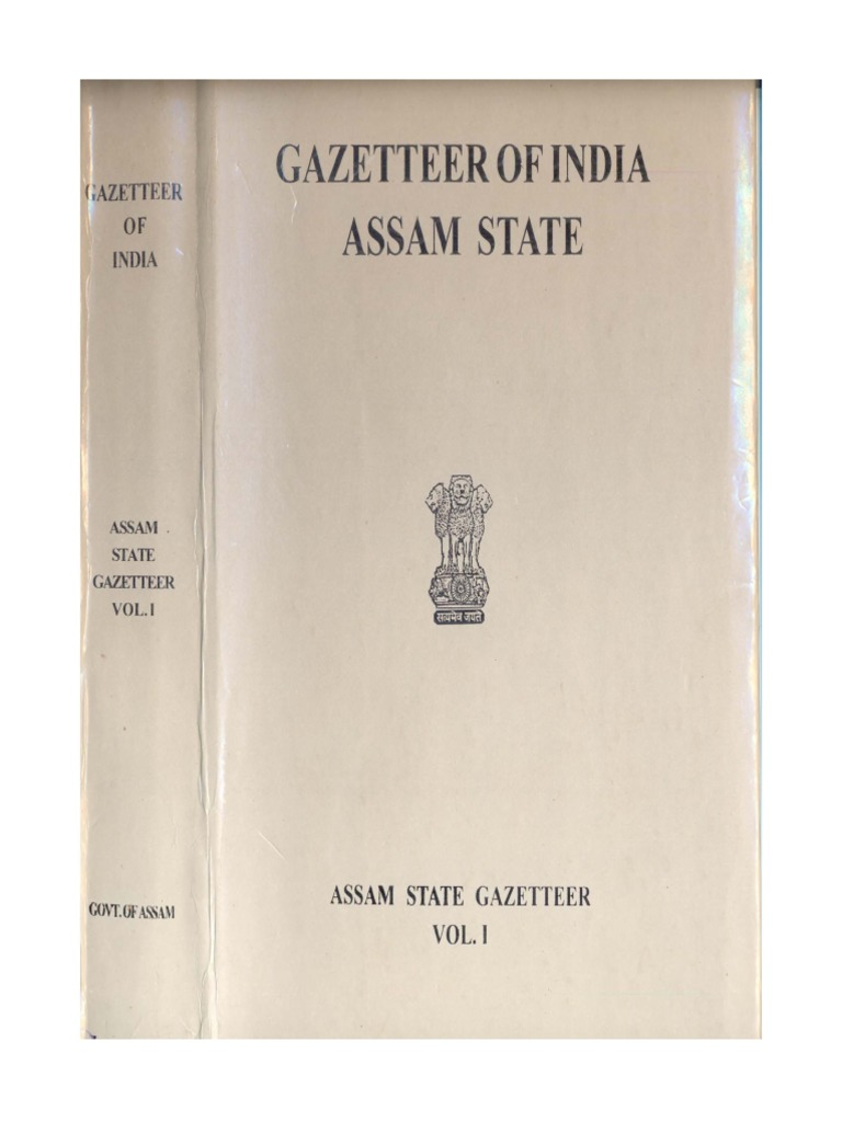 Gazetteer of India Assam State Vol 1