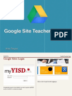 Google Site Teacher Basics