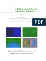 Bibliography of Genetic Algorithms in Arts and Music