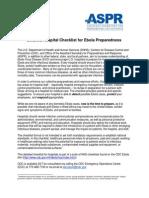 Hospital Checklist Ebola Preparedness