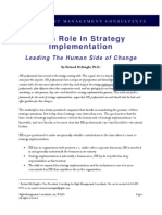 HR Role in Strategy Implemnetation