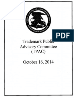 USPTO Trademark Public Advisory Committee handout October 10, 2016