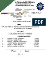 ANÁLISIS DEL PRIMER CONGRESO DE RELACIONES COMUNITARIAS.docx
