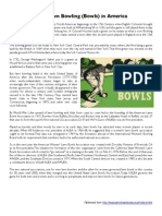 the history of lawn bowling