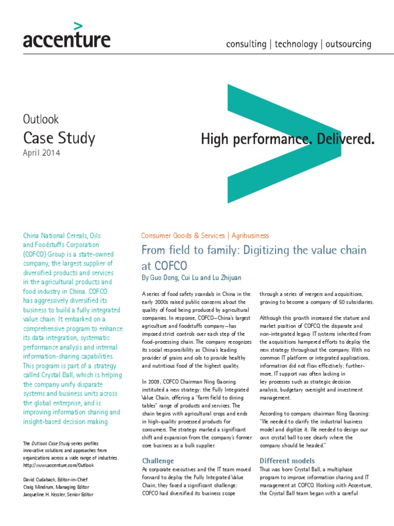 case study cofco State-owned cofco is china's largest food processing company  this is the  case even though companies do not require approval to use the labels   horphag research | download research study pycnogenol® effective.