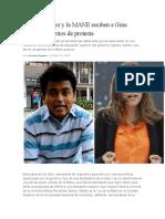 Amaury Núñez y la MANE reciben a Gina Parody con gritos de protesta.docx