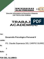 DESARROLLO PSICOLÓGICO PERSONAL II