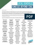 Asheville  businesses demand coal plant closure