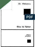 Gheorghe Vladutescu-Etica Lui Epicur-Editura Stiintifica (1972)