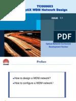 Optix Wdm Network Design Issue1.1