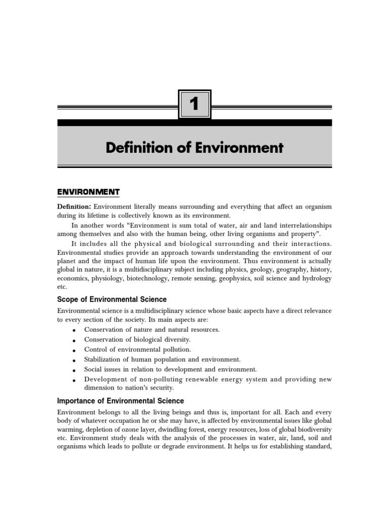 environment | sustainability | environmental impact assessment