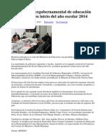 Comisión intergubernamental de educación garantiza buen inicio del año escolar 2014.docx