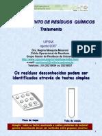 GERENCIAMENTO DE RESÍDUOS  QUÍMICOS - identificao residuo desconhecido.ppt