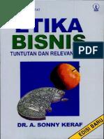 Buku Etika Bisnis (Sony Keraft)