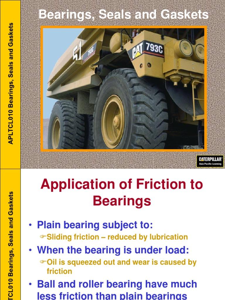 caterpillar | Bearing (Mechanical) | Friction
