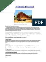 Rumah Adat Tradisional Jawa Barat