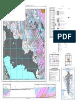 Mapa Geologico Del Cuadrangulo Cerro de Pasco Hoja 22K- II