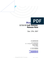 IVT BlueSoleil 2.7.0.13 VoIP Release 071227 Release Note