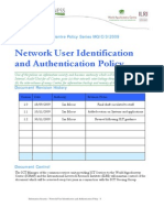 Network User ID & Authentication Policy Nov 2009