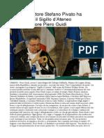 Urbino, il Sigillo d'Ateneo a Piero Guidi - L'Altro Giornale Marche del 16 ottobre 2014
