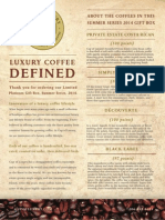 Luxury Coffee Defined