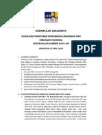 Kesimpulan Sosialisasi Peraturan Perundang-undangan dan Kebijakan Nasional 16-17April