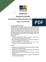 Kesimpulan Lokakarya Prinsip Perencanaan SDA Wilayah Sungai Banten