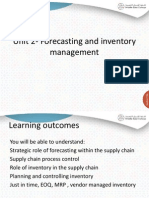 Forecasting and Inventory Management in supply chains