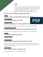Linux YUM Tutorial
