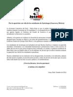 Pronunciamiento de la Juventud Comunista del Perú - Patria Roja