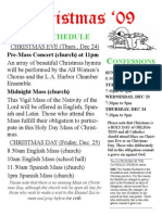 Christmas Schedule Eng 2009