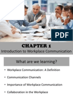 Chapter 1 - Intro to Workplace Communication