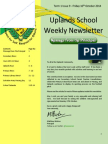Uplands School Weekly Newsletter - Term 1 Issue 10 - 17 Oct 2014