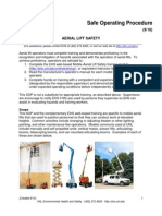 Articulated boom lift Safety