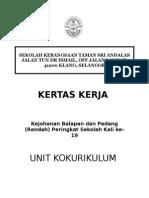 Kertas Kerja Sukan 2014