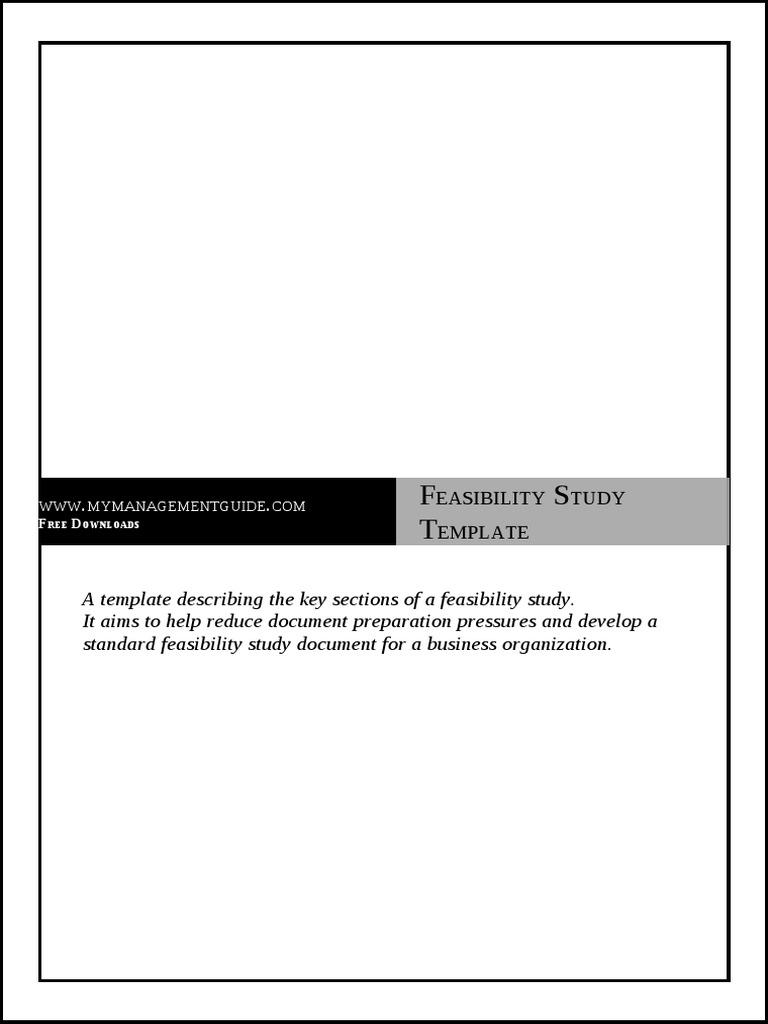 Feasibility study template feasibility study accountability friedricerecipe Choice Image