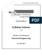EE Syllabus for P.T.U. students