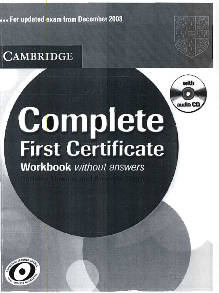 Complete First Certifcate -workbook.pdf | Restaurants | Foods