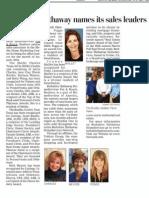 Berkshire Hathaway Names Sales Leaders