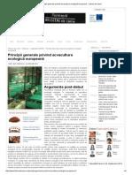 Principii Generale Privind Acvacultura Ecologică Europeană - Fabrica de Carne