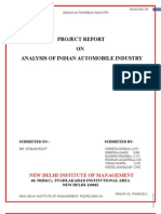 Indian Automobile Industry Analysis