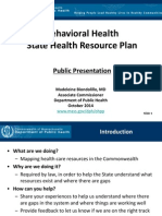 Behavioral Health Plan Public Presentation