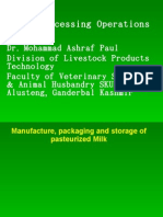 Dairy Processing Operations