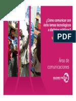 Exposicion Comunicacion Grupo Practical Action