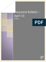 Placement Bulletin - April 2013