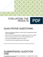 evaluating the results