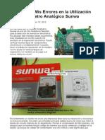 Aprenda de mis Errores en la Utilización del Multímetro Analógico Sunwa.doc