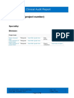 Black 232 Clinical Audit Report Template
